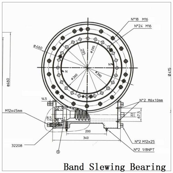 Four-Point Contact Slewing Bearing, External Gear E950 20 00. B in Stock #2 image